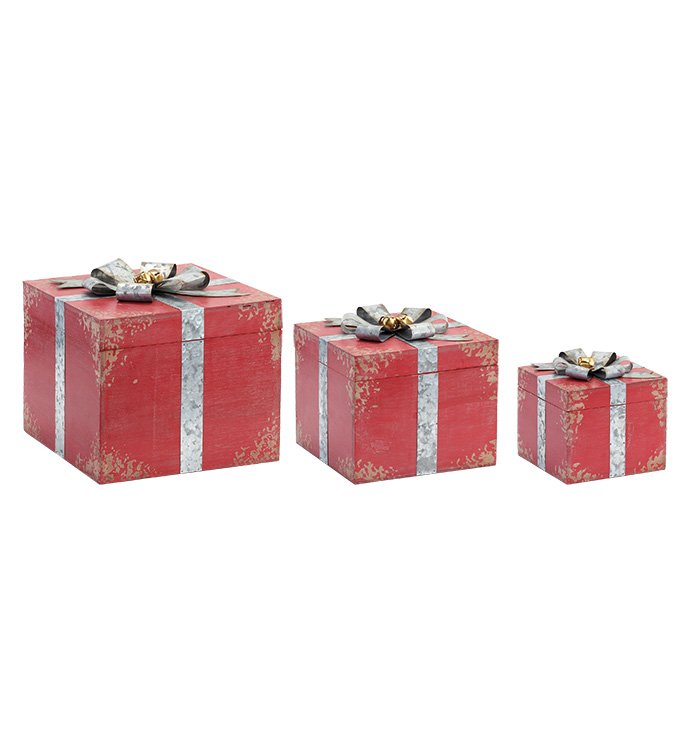 Gift Boxes With Removable Lids, Set
