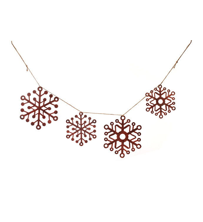 Large Red Snowflake Garland