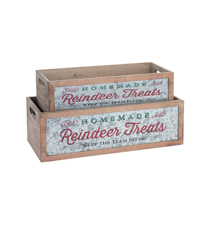 Reindeer Planter Box, Set of 2