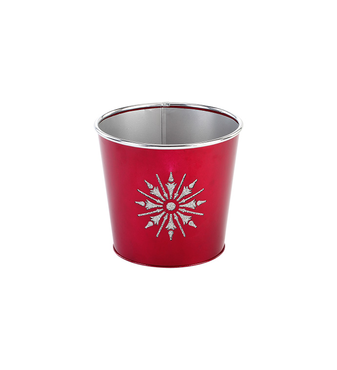 "6.5"" Snowflake Cut Out Pot Cover"