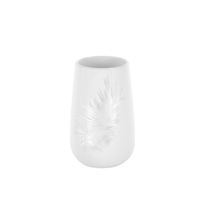 Silver Pine Bough Vase