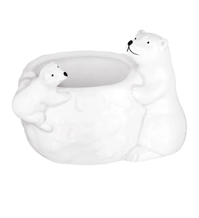 Small Pearl Polar Bear Planter