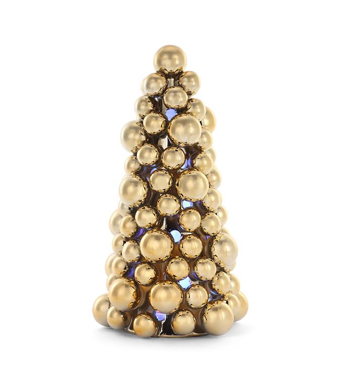 Gold Orb LED Christmas Tree