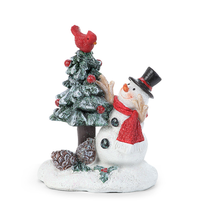 Frosted Snowman with Tree