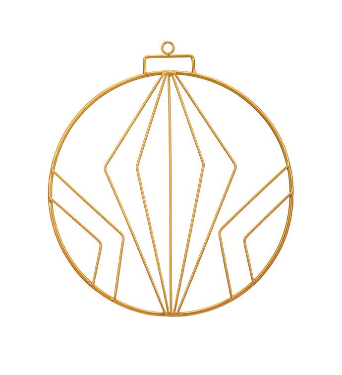 Gold Retro Christmas Ornament