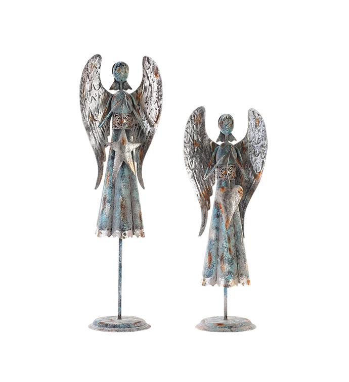 Angel with Heart & Star, Set of 2