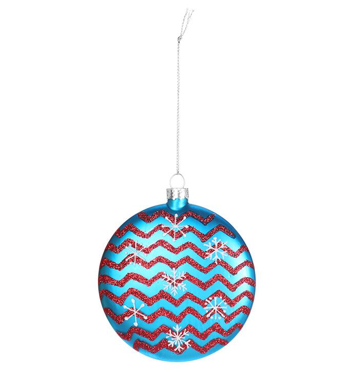 Blue/Silver Snowflake Disk Ornament
