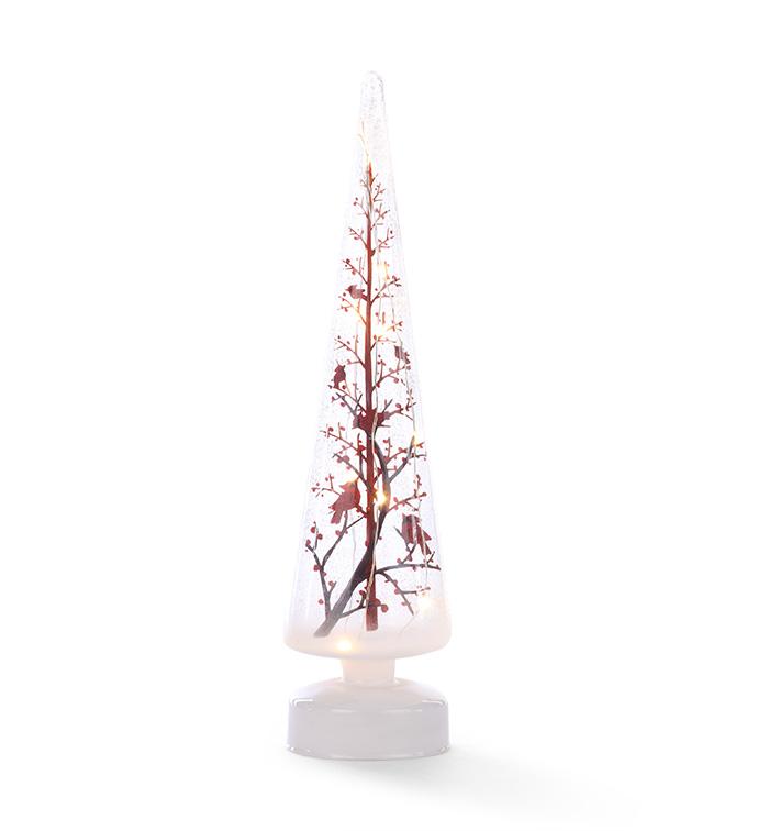 LED Cardinal Christmas Tree