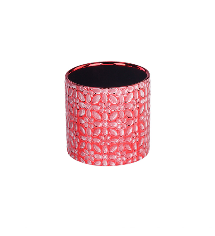 Small Red Electroplated Planter