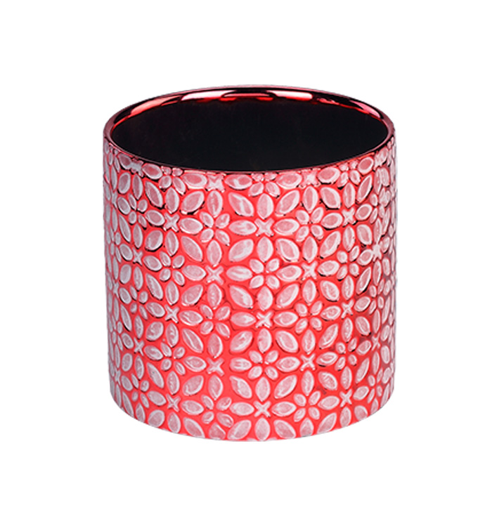 Large Red Electroplated Planter