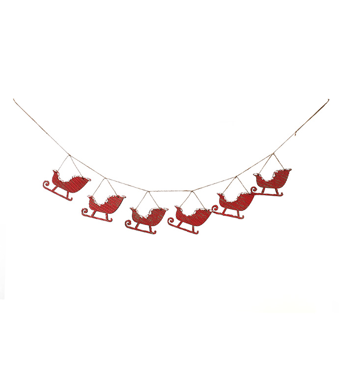 Red Sleigh Garland