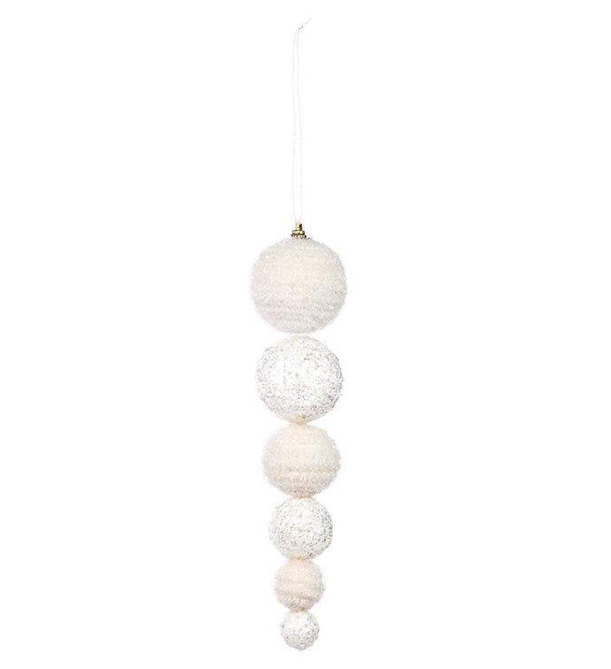 White Hanging Ball Ornament