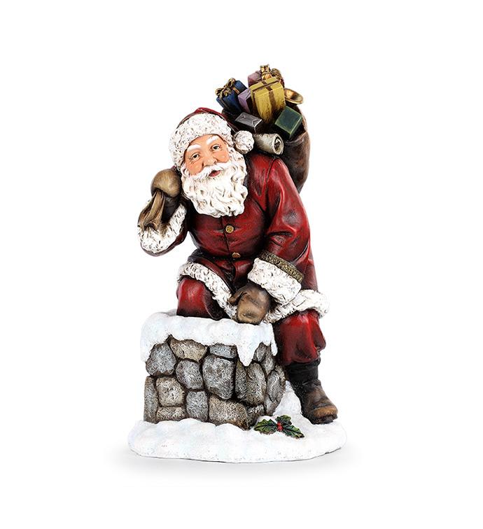 Santa Climbing Down Chimney