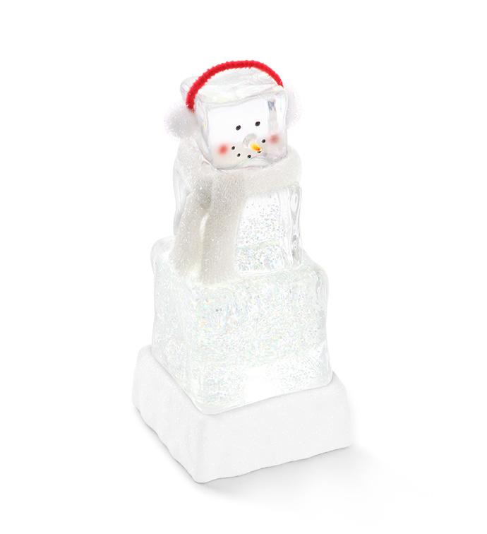 LED Ice Cube Snowman