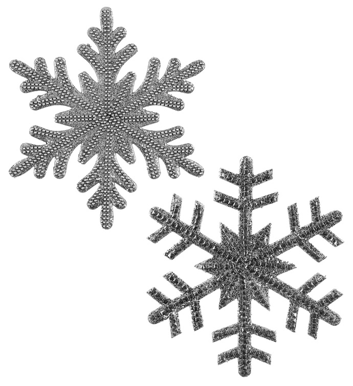Silver Snowflake Ornament, 2 Assort