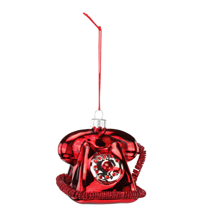 Red Telephone Ornament