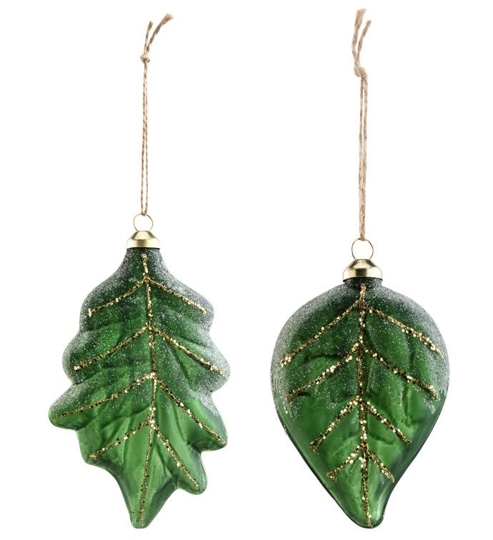 Gilt Leaf Ornament, 2 Assorted
