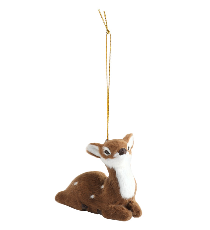 Laying Fawn Ornament