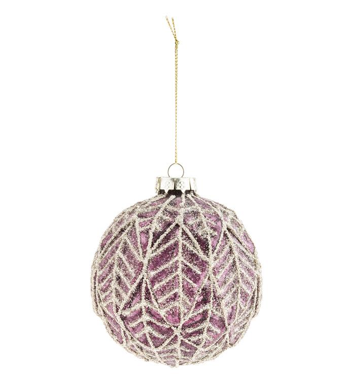 Lavender With Gold Leaf Ornament