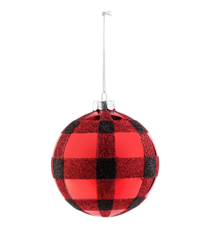 Red Buffalo Plaid Ornament