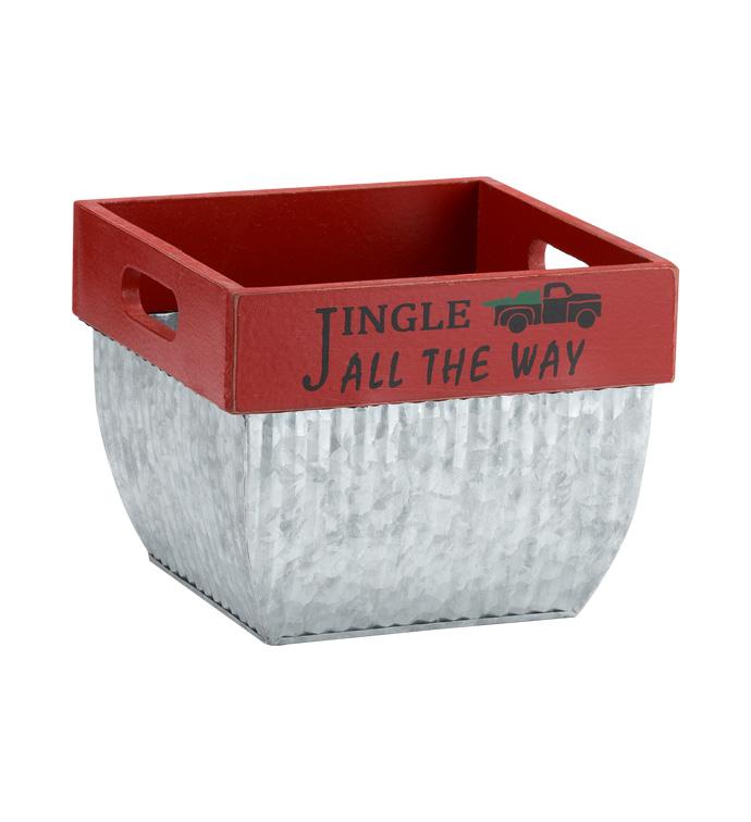 Jingle All The Way Square Pot