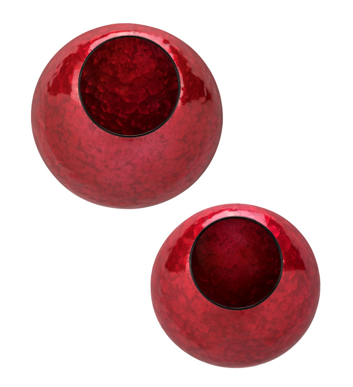 Red Wall Planters, Set of 2