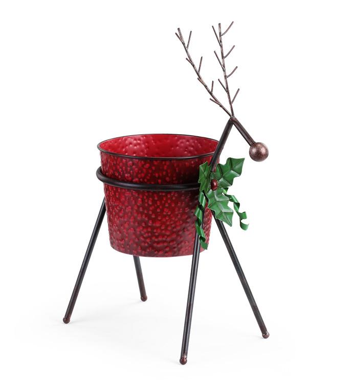 """6.5"""" Standing Deer Pot Cover"""