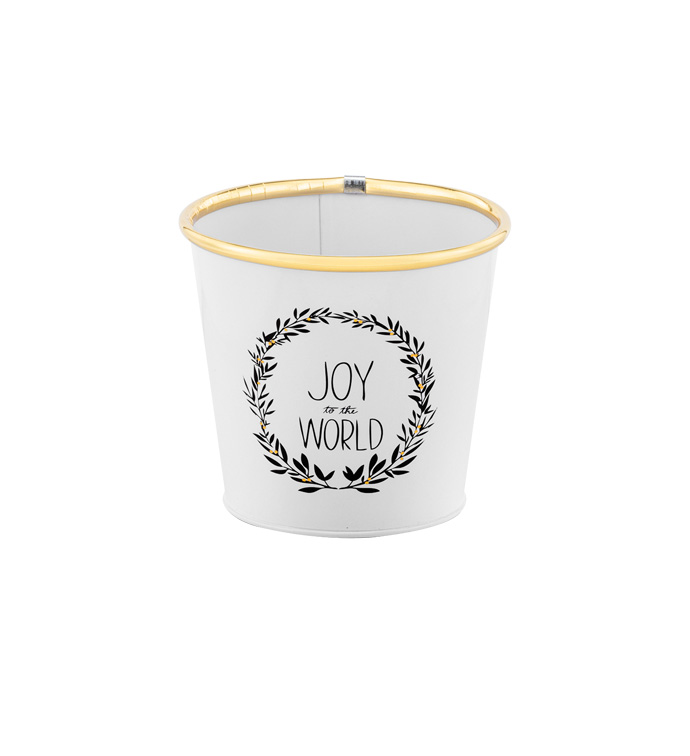 "5"" White/Black Joy Pot Cover"
