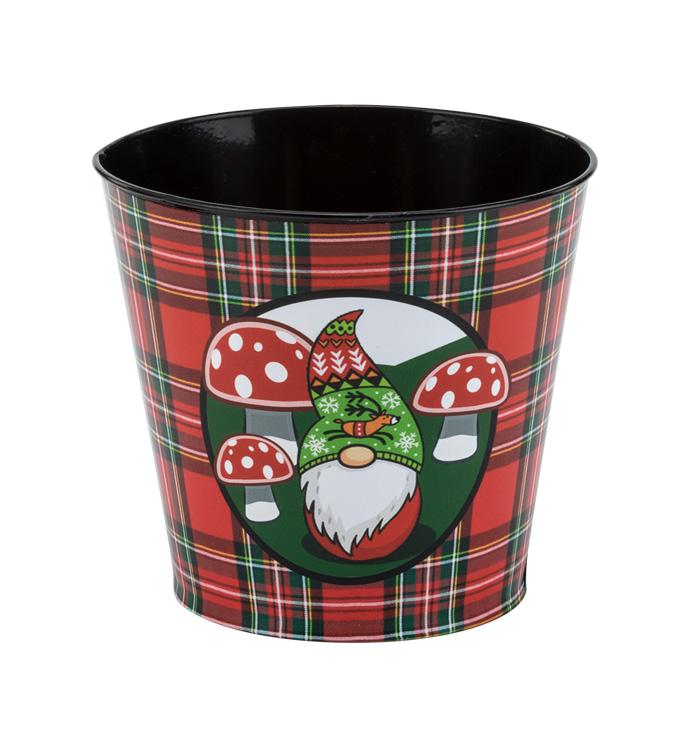 """6.5"""" Christmas Gnome Pot Cover"""