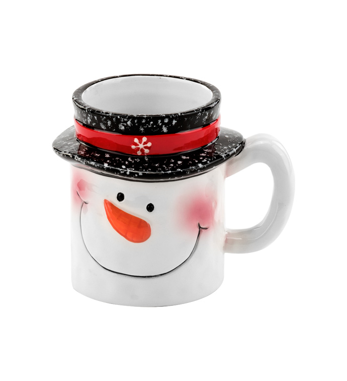 Snowman with Top Hat Mug Planter