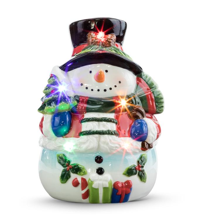 LED Holly/Tree Snowman