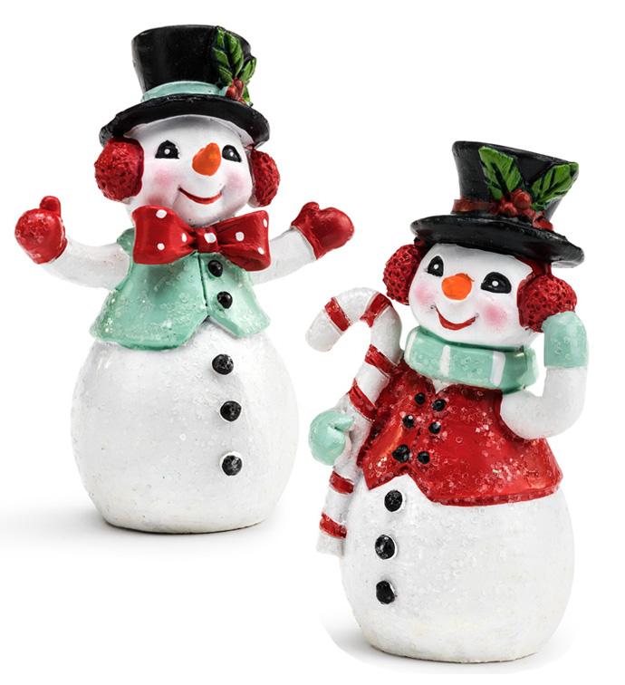 Retro Snowmen, 2 Assorted