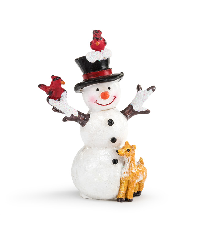 Small Snowman With Animals