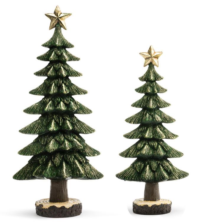 Green Christmas Tree, Set of 2