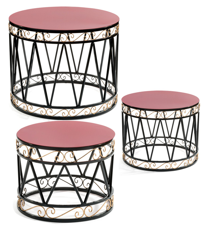 Drum Table Set of 3