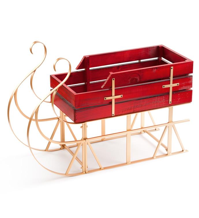 Metal/Wood Table Sleigh