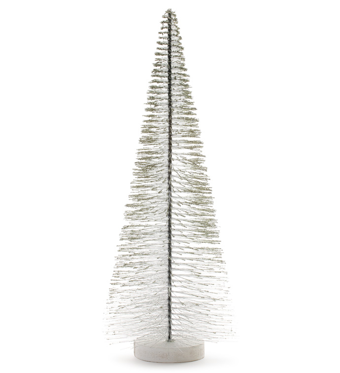 Silver Black Sparkle Christmas Tree