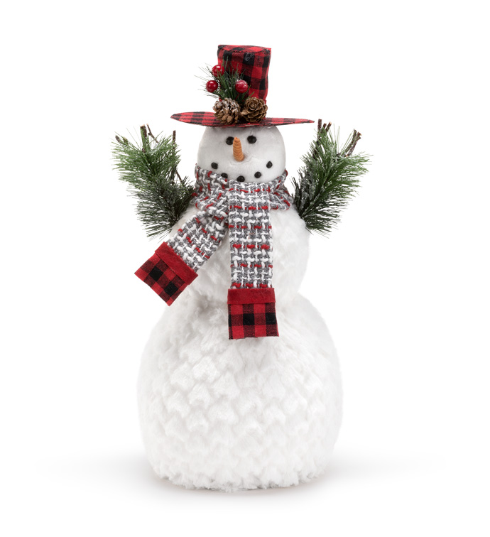 Large Snowman With Pine Cone
