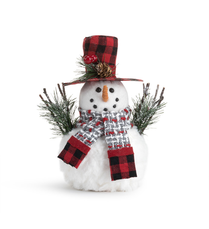Small Snowman with Pine Cone