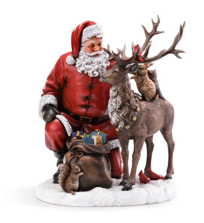 Santa w/Reindeer