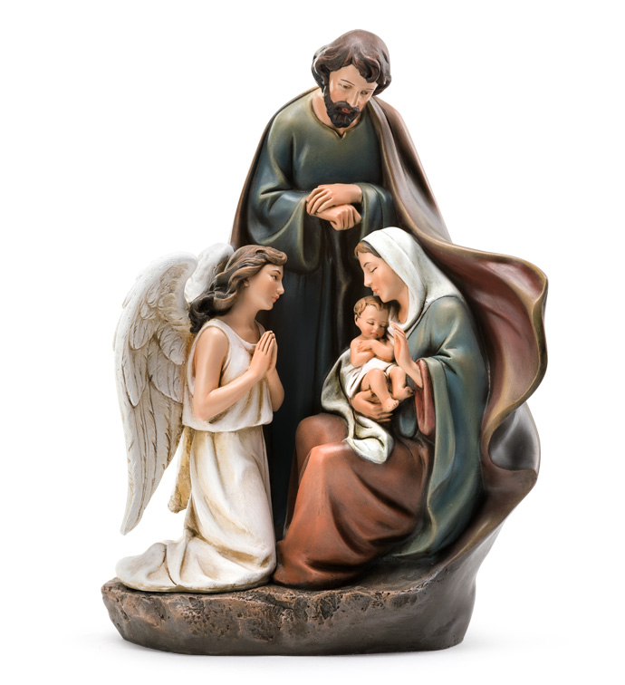 Praying Angel with Holy Family