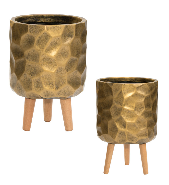 Gold Planter Stand,Set of 2