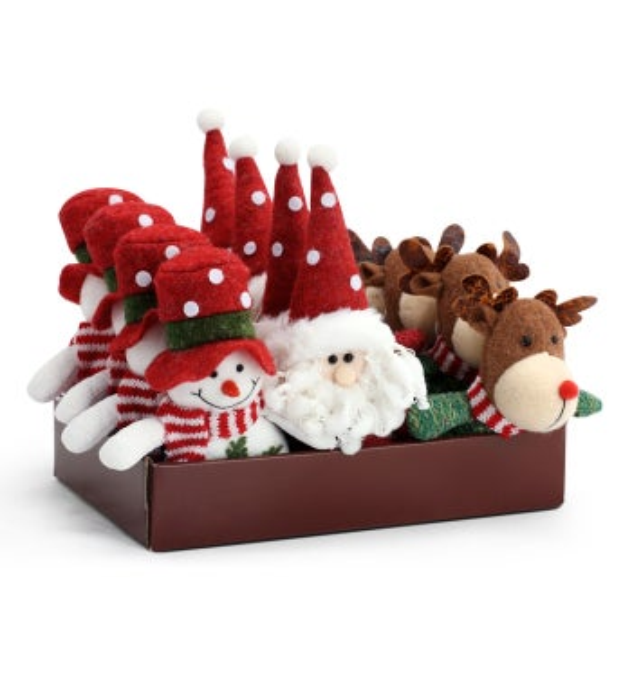 Plush Ornaments, 3 Assorted