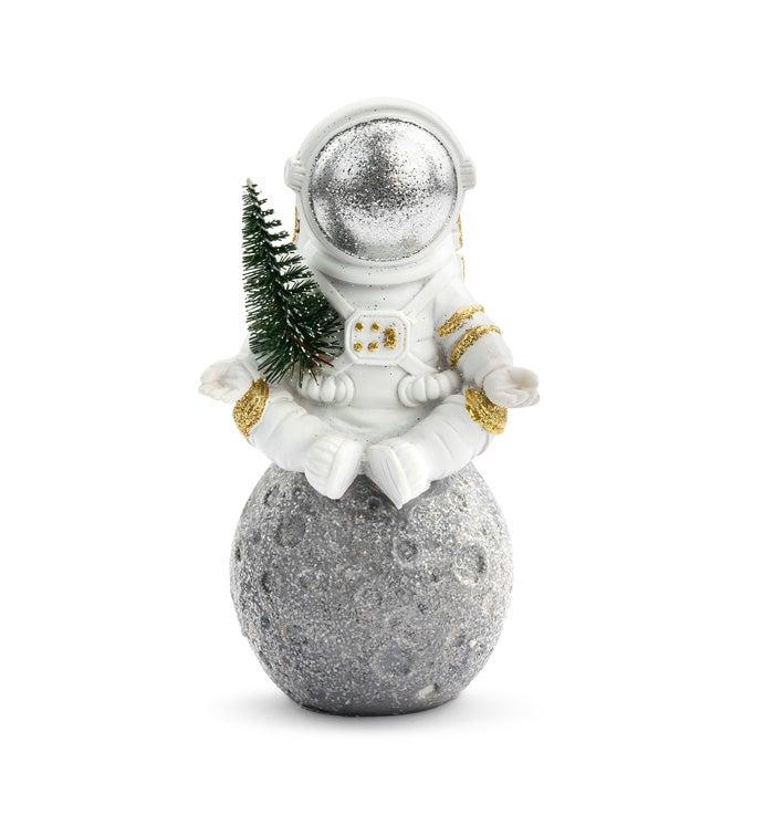 Astronaut Sitting On Moon
