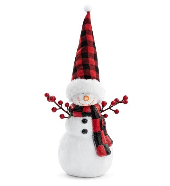 Snowman with Berry Arms