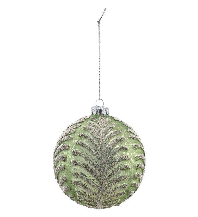 Sage Beaded Ornament