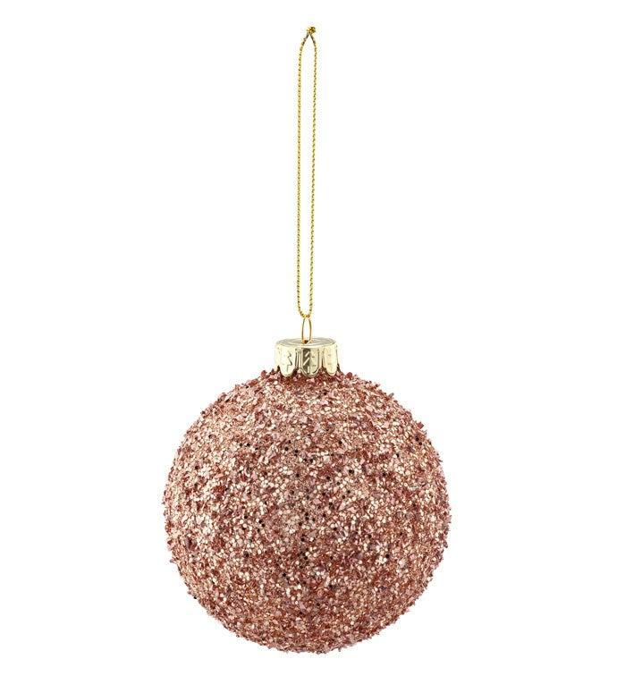 Rose Gold Beaded Ornament