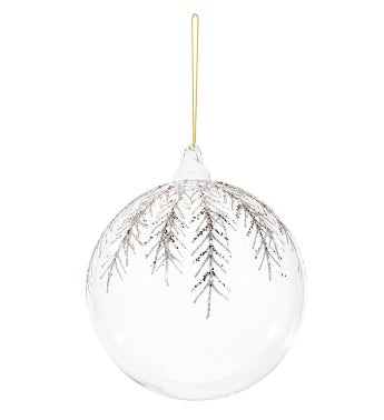 Clear/Gold Ornament