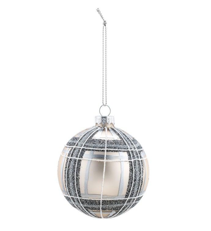 Metallic Plaid Ornament