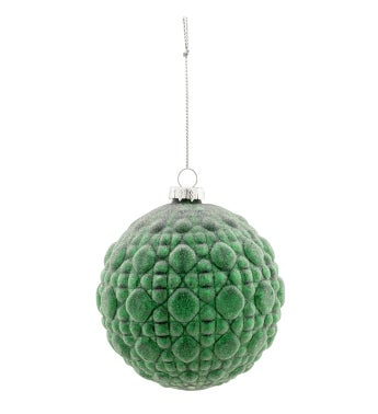 Green Frosted Ornament